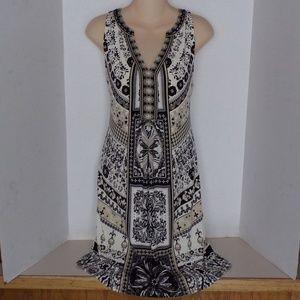 NWT! $235 Hale Bob Sleeveless V-Neck Dress - Small